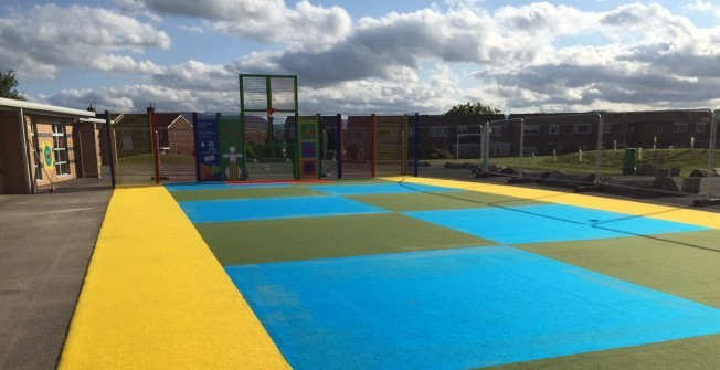 Fibre Bonded Flooring for Multisports in Abbey Green